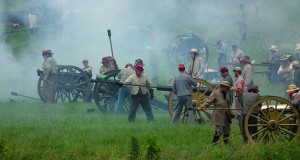 A Confederate Battery in Action